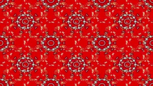 Vintage virág kompozíció, piros háttér. Hurok.