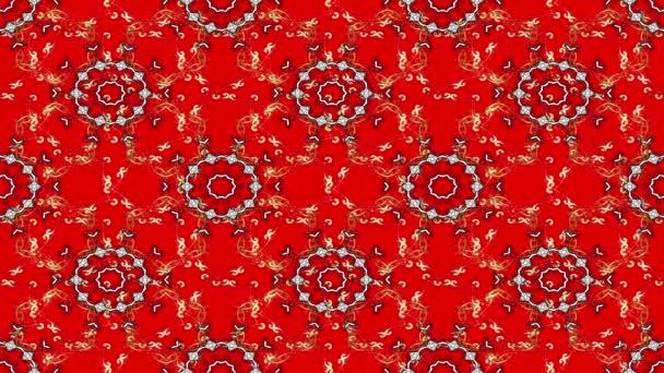 Vintage virág kompozíció, piros háttér