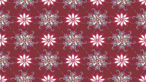 Rózsaszín virágos mozgó összetétele