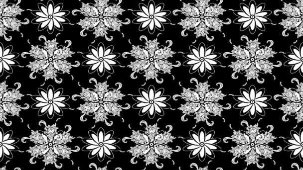 Bílá a černá stěhování květinový vzor