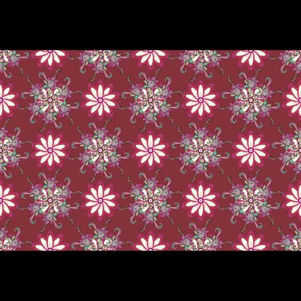 Rózsaszín mozgás háttérrel, virágok