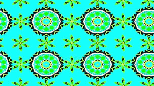 Green loop mandalas composition