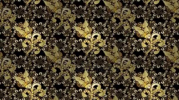 goldene Vintage-Loop-Komposition. Video.