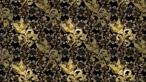 Golden vintage loop composition. Video.