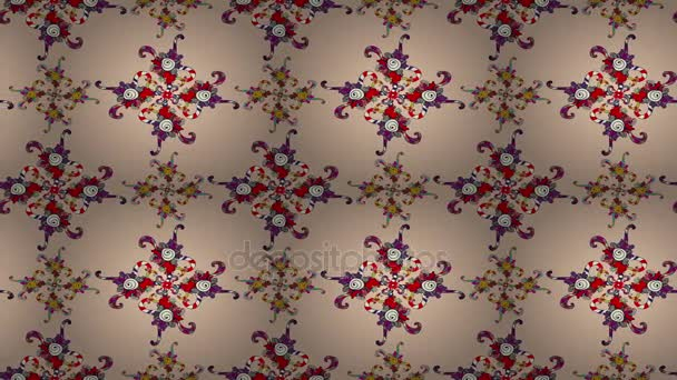 Beautiful floral abstract retro moving pattern