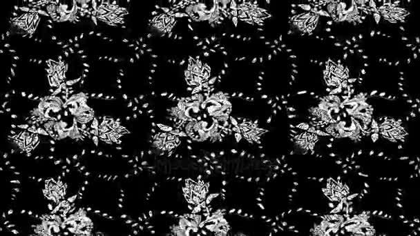 Motion Footage Zusammensetzung. Orientalisches Ornament im Stil des Barock