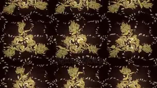 Goldenen Muster auf dunkle Farben mit goldenen Elementen. Motion Footage Zusammensetzung.