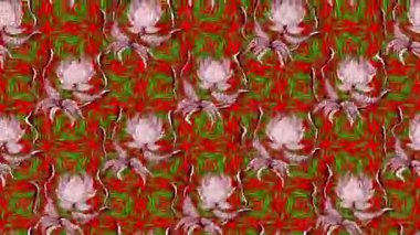 Motion video loop footage. Pink and green colors. Flowers.
