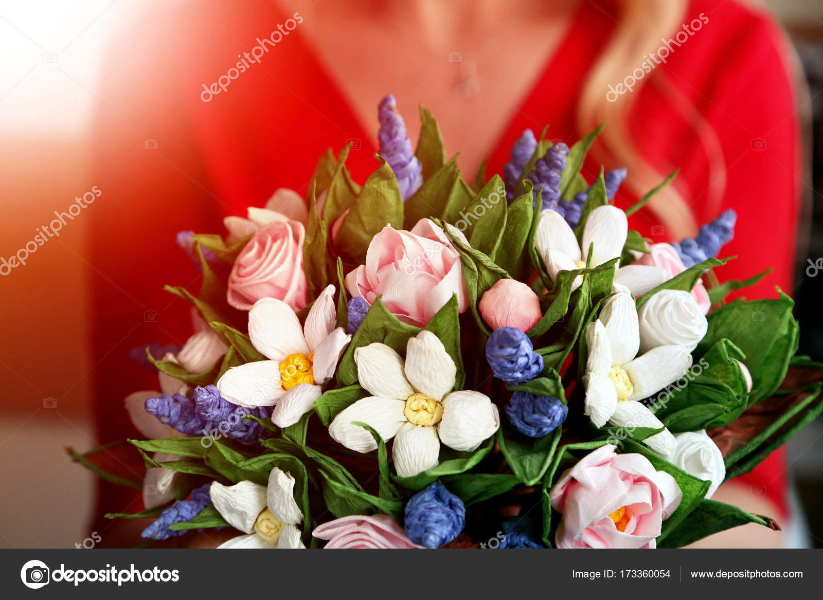 A Bouquet Of Flower Made Of Paper Stock Photo Nicgorski