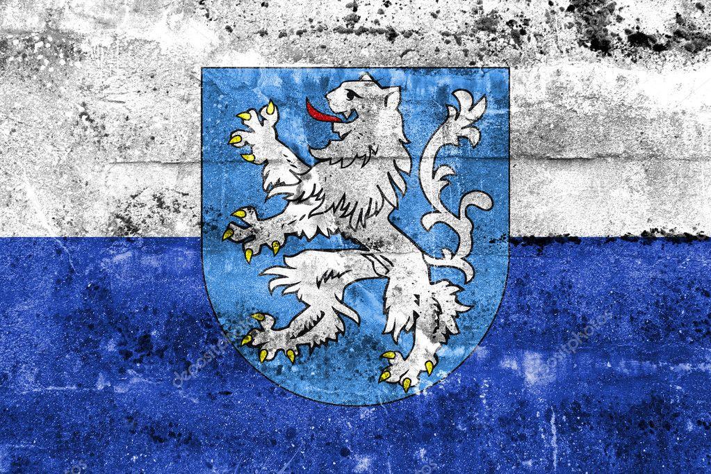 Flag of Mlada Boleslav with Coat of Arms, Czechia