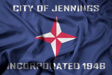Waving Flag of Jennings, Missouri, USA