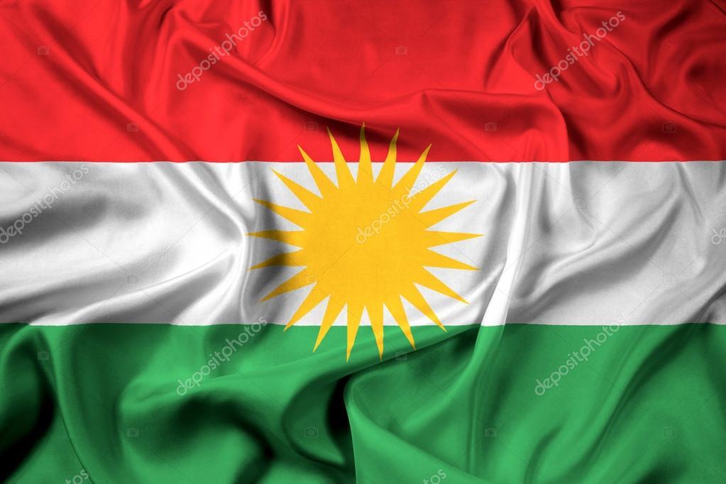 kurdistan flagga