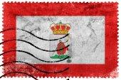 Bandiera di Gijon, Spagna, Vecchio francobollo