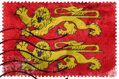 Bandiera della Normandia, in Francia, Vecchio francobollo