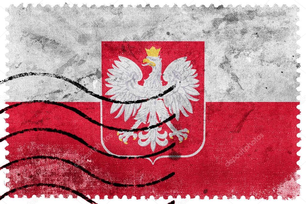 Bandera De Polonia Con El Escudo