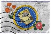 Vlajka kraji Sacramento, Kalifornie, Usa, staré poštovní známky