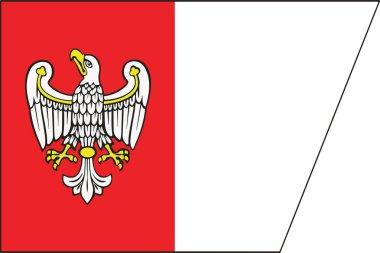 Flag of Greater Poland Voivodeship, Poland. Vector Format