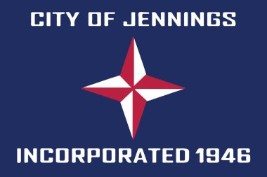 Flag of Jennings, Missouri, USA. Vector Format