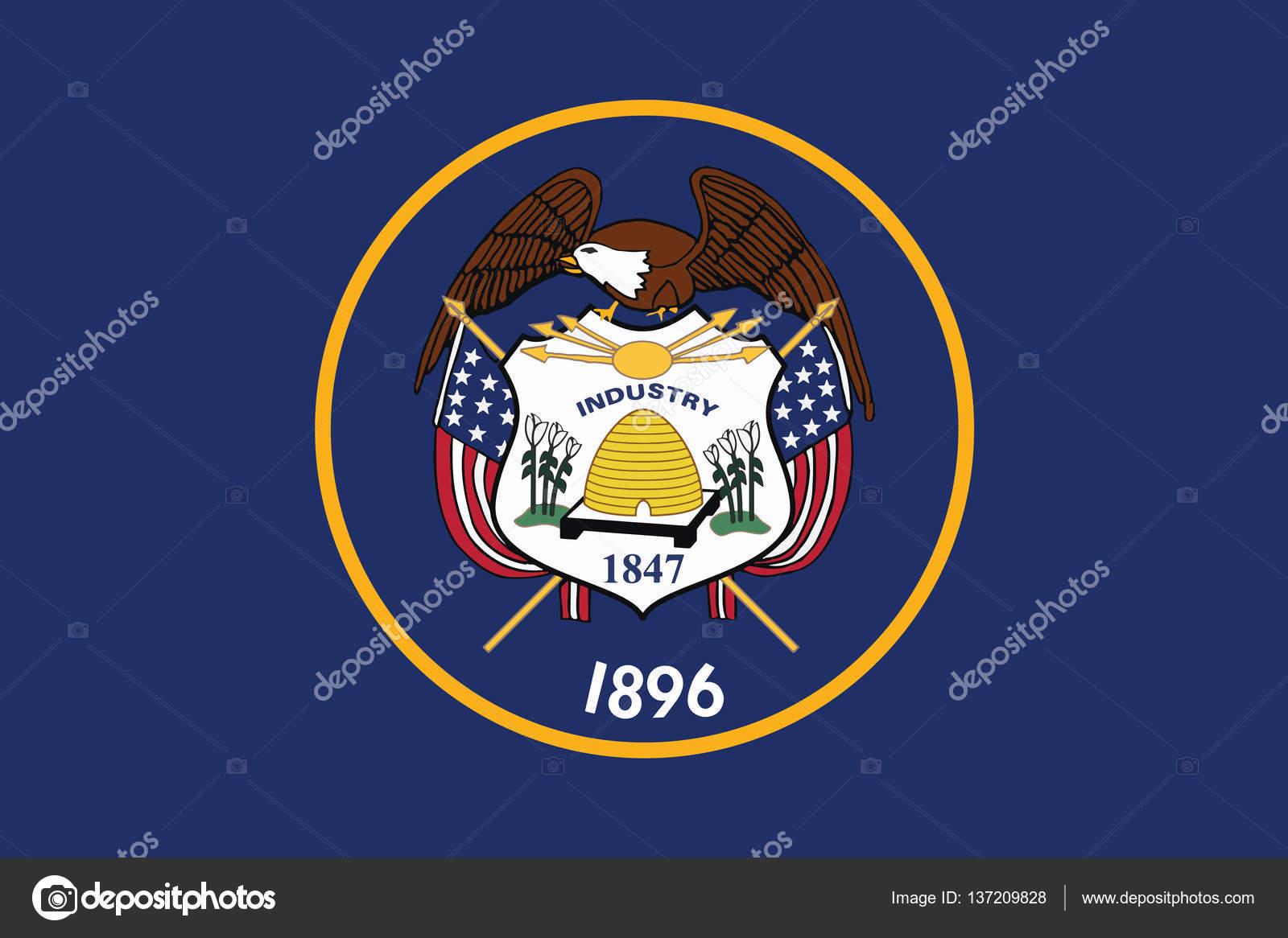 Bandera Del Estado De Utah, Estados Unidos. Formato
