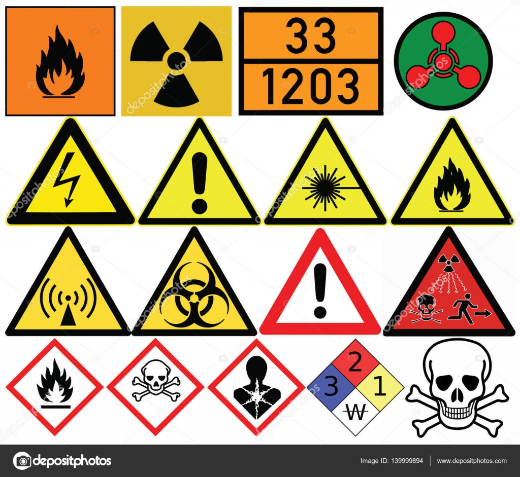 Hazard Symbols Generic Caution Poison Radiation Biological