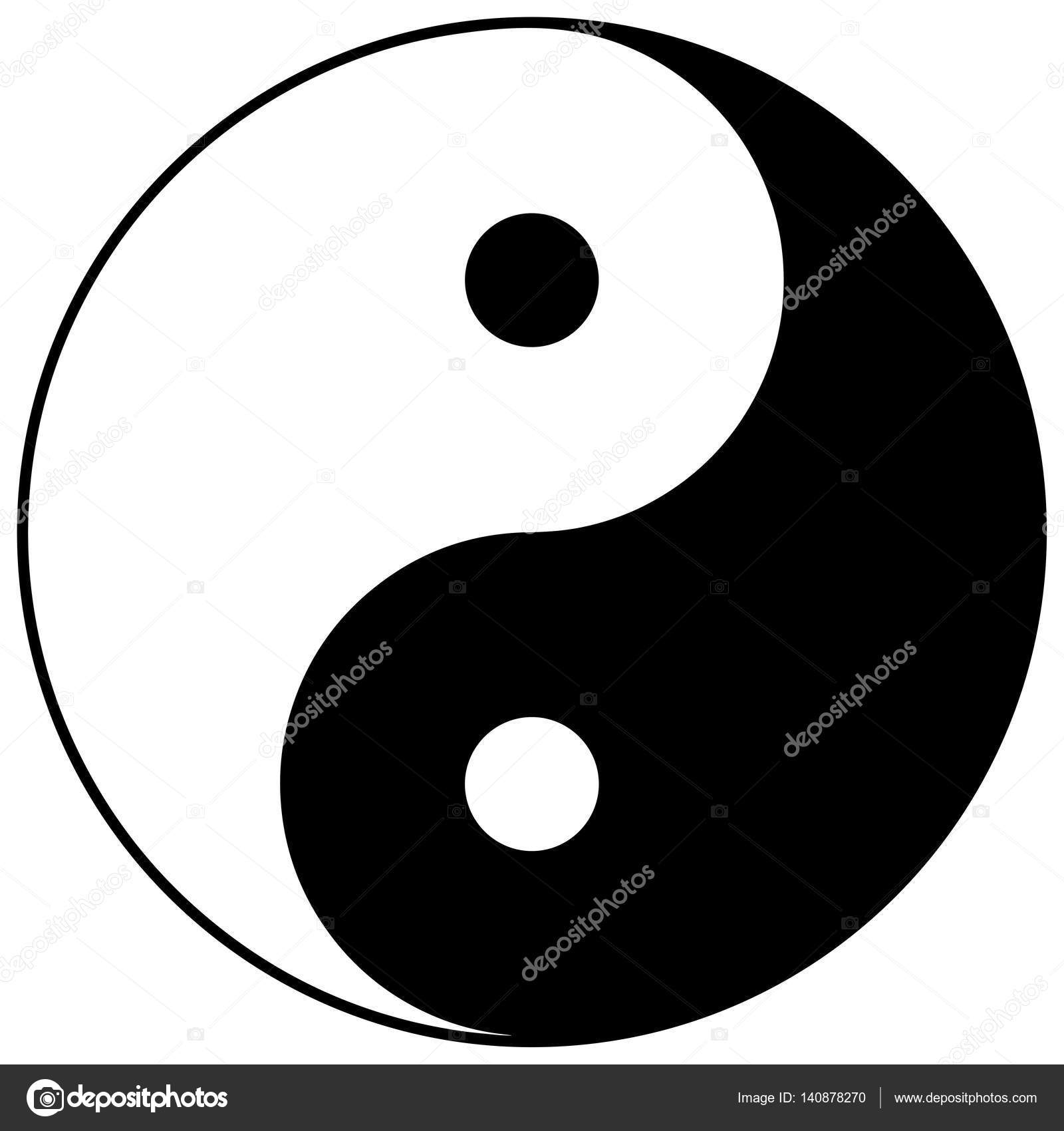 Religious Sign Chinese Religions Yin Yang Symbol Of Balance And
