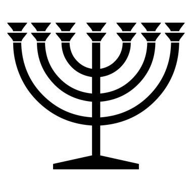 Religious sign. Judaism. Menorah. Vector Format.