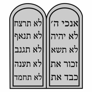 Religious sign. Judaism. Ten Commandments. Vector Format.