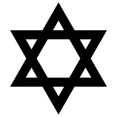 Religious sign. Judaism. Star of David. Vector Format.