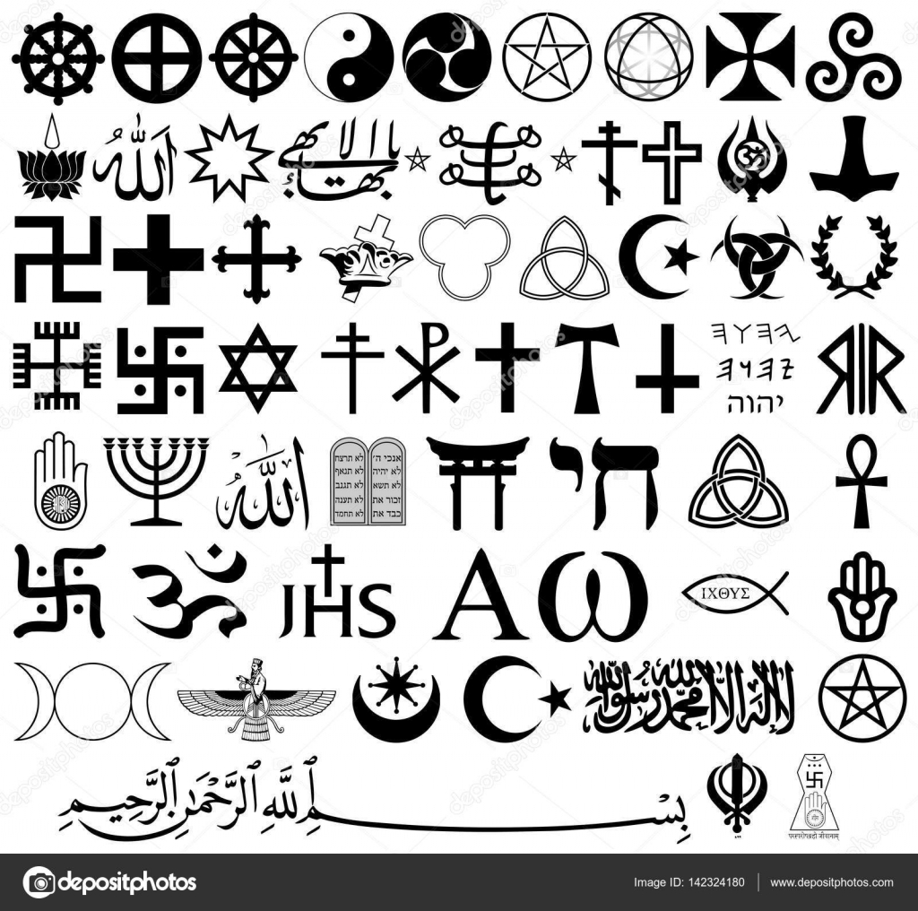 Religious Symbols From The Top Organized Faiths Of The World