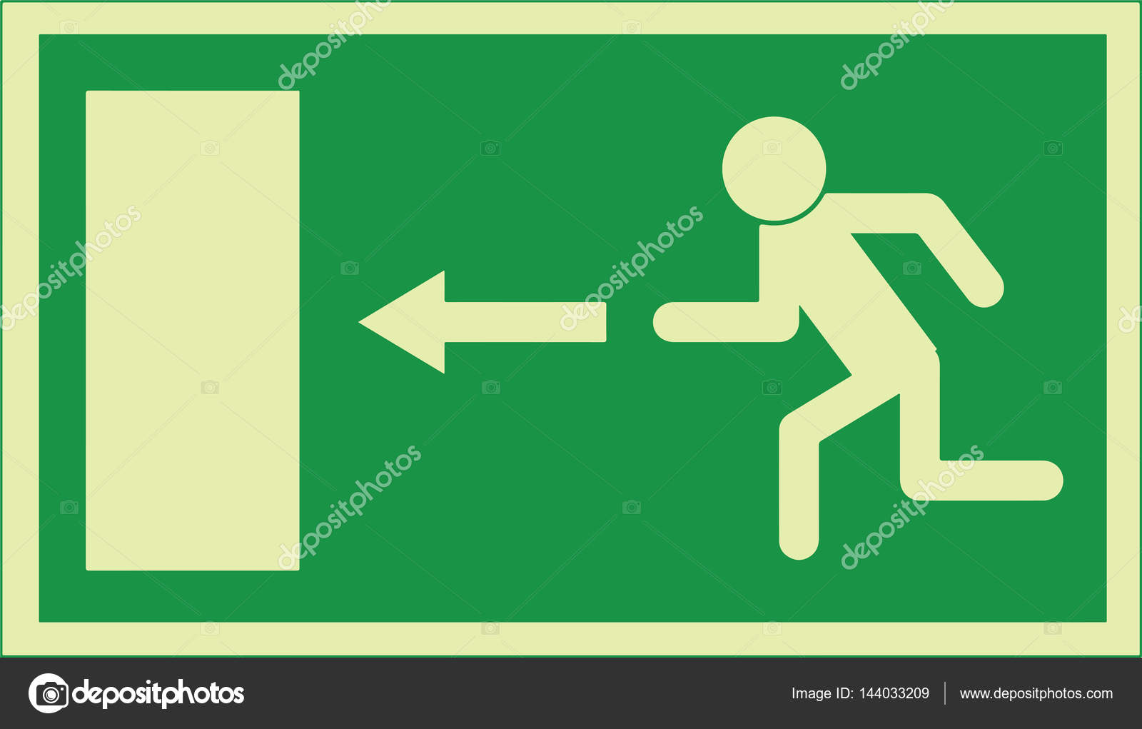 Exit sign emergency exit sign used in the european union stock exit sign emergency exit sign used in the european union stock vector buycottarizona Images