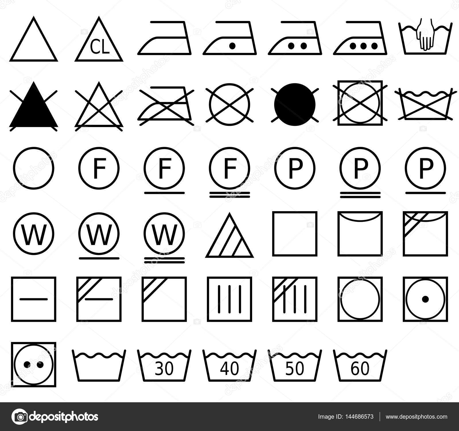 A laundry symbol also called a care symbol stock vector a laundry symbol also called a care symbol is a pictogram which represents a method of washing vector format vector by promesastudio biocorpaavc Image collections