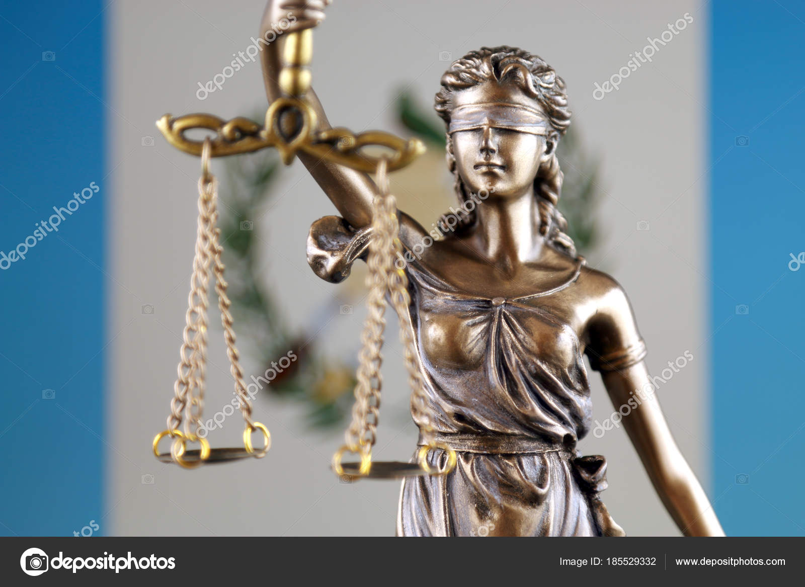 Symbol Law Justice Guatemala Flag Close Stock Photo