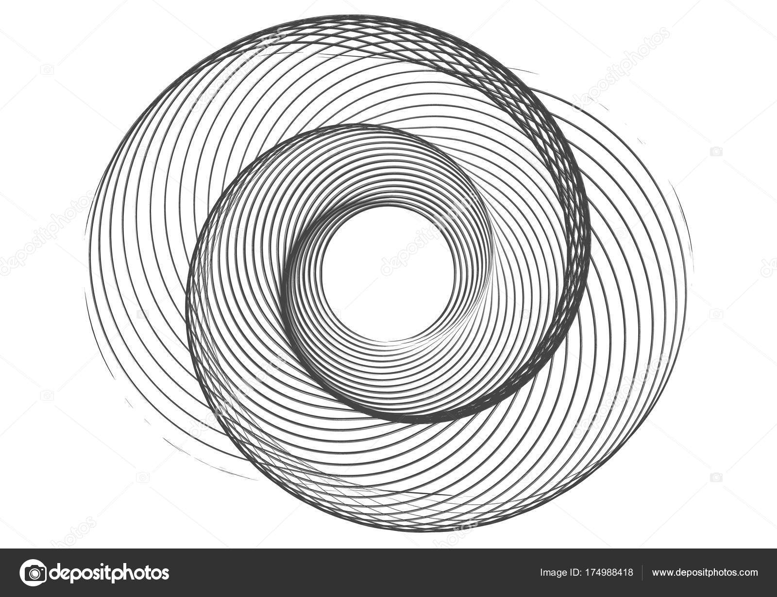 abstract round spiral template for the logo stock vector yenko1