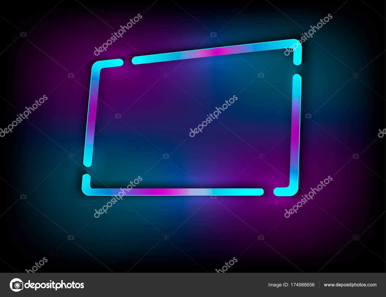 Neon abstract glowing frame vintage electric symbol design neon abstract glowing frame vintage electric symbol design element for your ad sign buycottarizona Choice Image