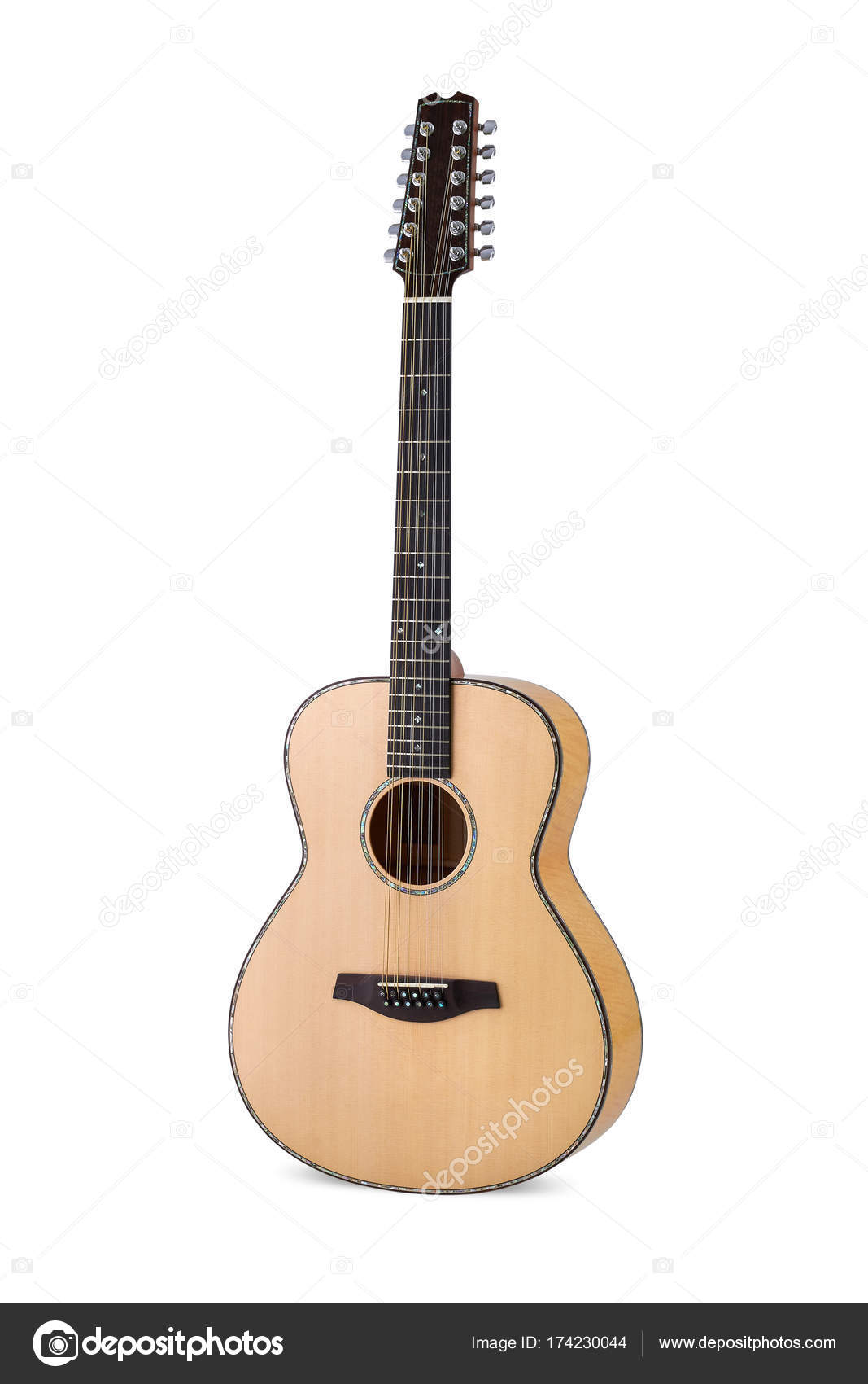Acoustic Guitar On White Background Stock Photo C Golubsergei