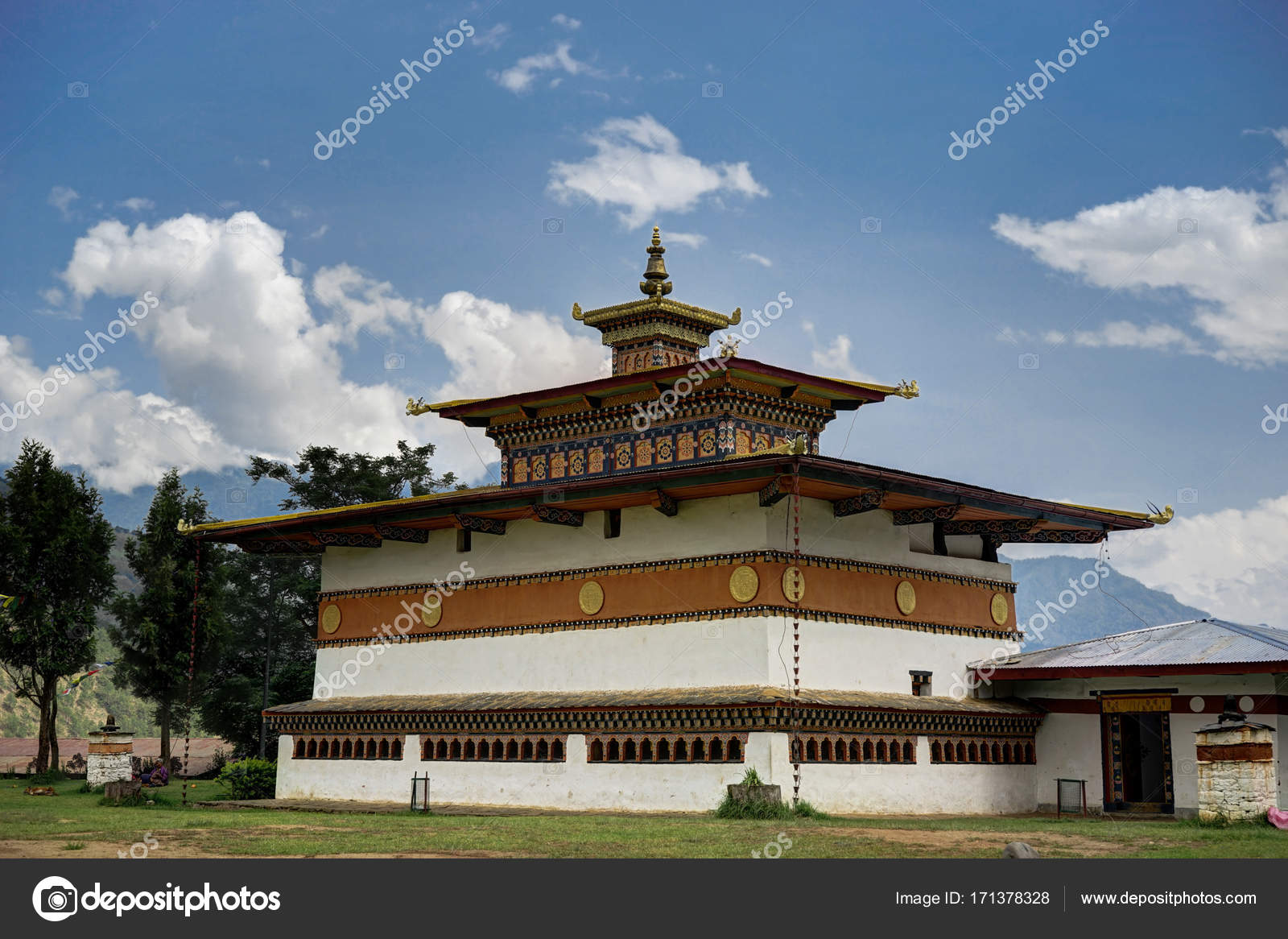 Bhutan Building Religion — Stock Photo © mathias_berlin