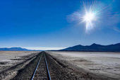 Train Tracks Altiplano Bolivia Desert Salar de Uyuni