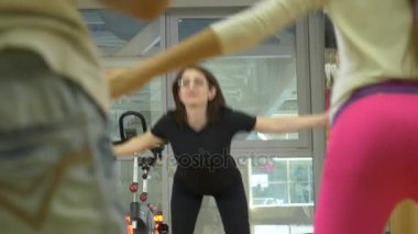 gymnastics with a childrens instructor in physical education. occupation with balls, 4k