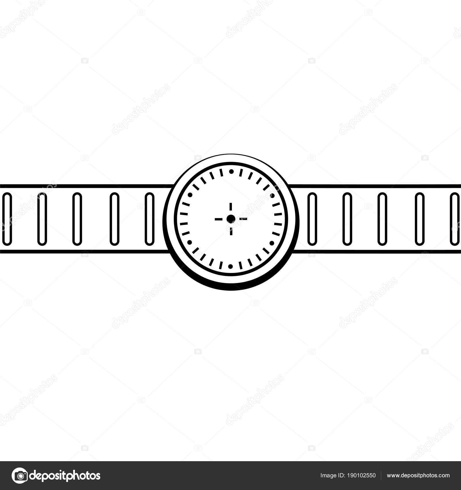 Grafika Kresba Naramkove Hodinky Ilustrace Ikony Stock Vektor