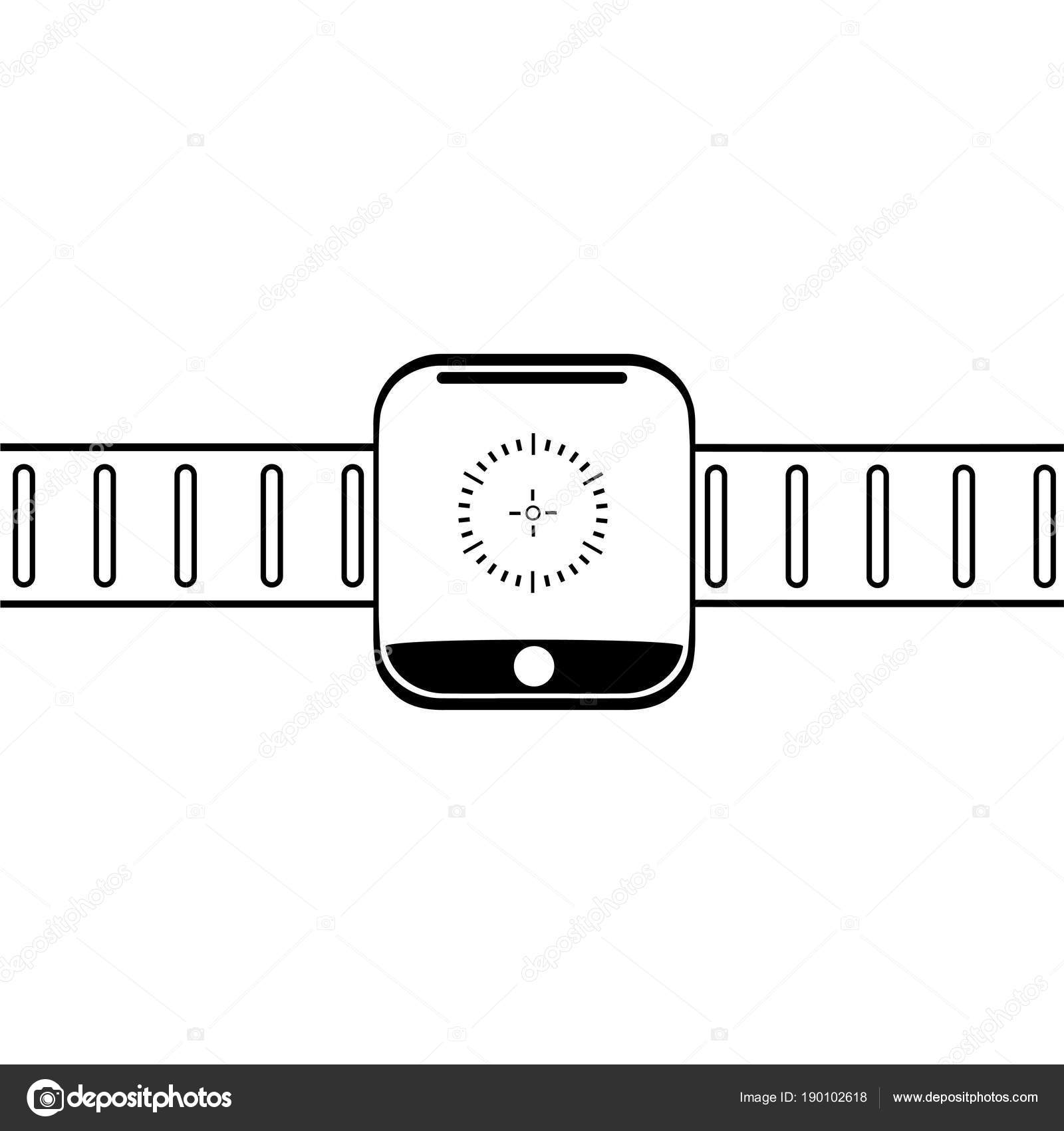 Grafika Kresba Moderni Naramkove Elektronicke Hodinky Na Naramku