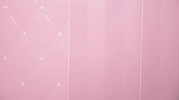 pink ceramic tile with rhinestones in the bathroom texture