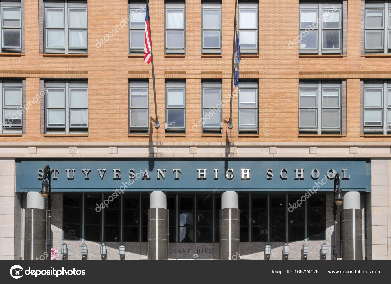 Stuyvesant High School   New York City U2014 Stock Photo