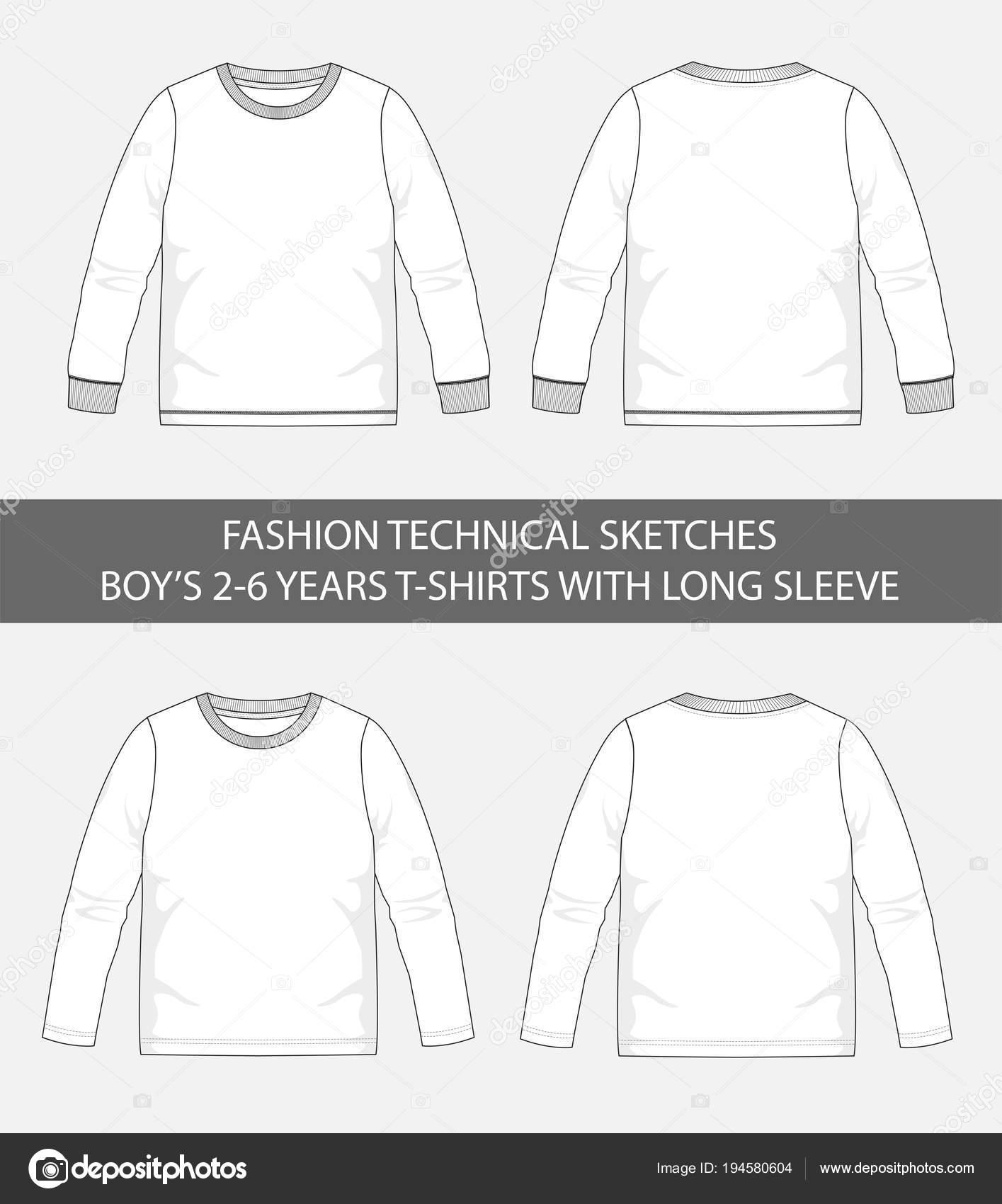 Μόδα Τεχνικά Σκίτσα Για Αγόρια Ετών Μπλουζάκια Μακρύ Μανίκι Διανυσματικού —  Διανυσματικό Αρχείο 8fbd1a6c217