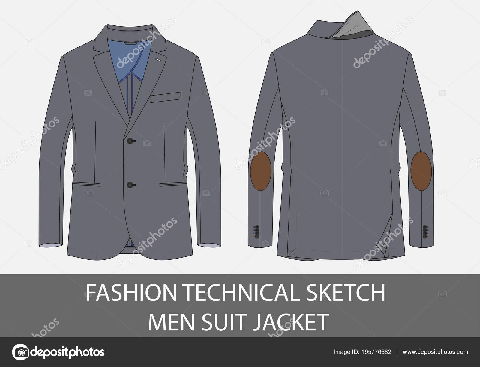 Ανδρών μόδας τεχνική σκίτσο κοστούμι σακάκι στο διάνυσμα– εικονογράφηση  αρχείου 9046bacd8ba