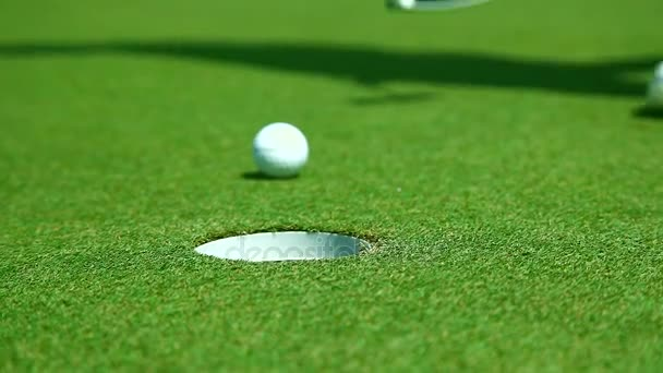 Golfový hráč Putt Golf míček zblízka