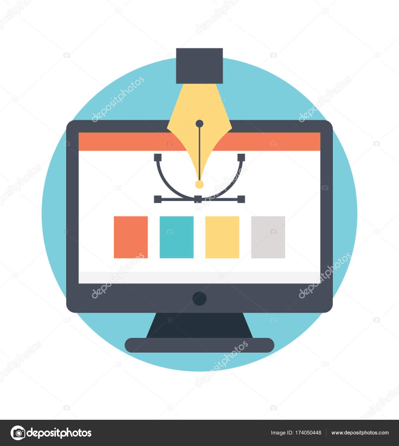 Web Design Flat Icon Stock Vector C Prosymbols 174050448