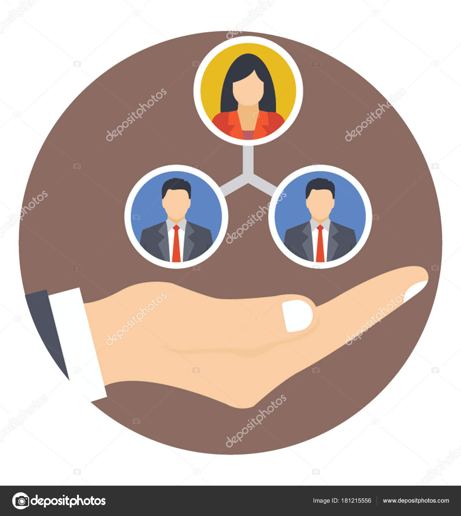 team building flat icon team coordination stock vector