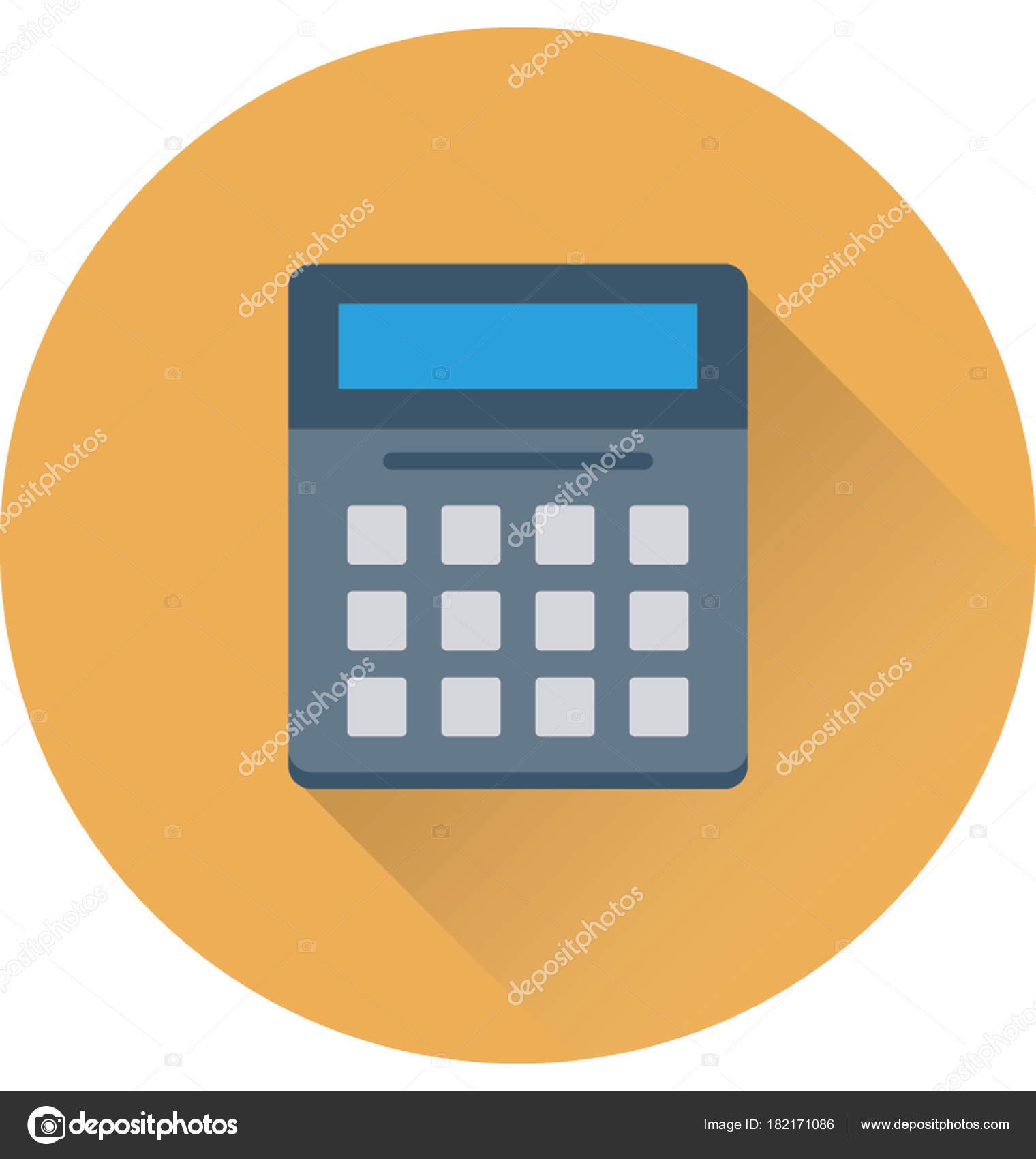 Calculadora Plana Vector Icono — Vector de stock © prosymbols #182171086