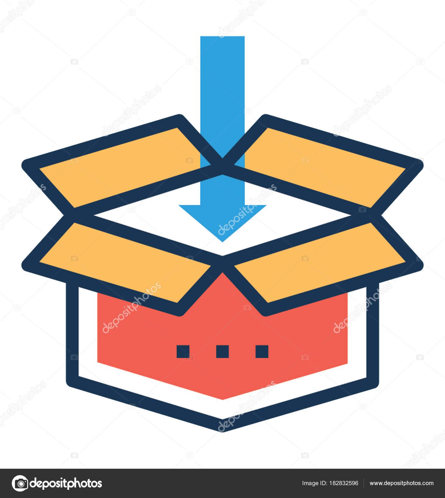 Dropbox Flat Vector Icon Stock Vector Prosymbols 182832596
