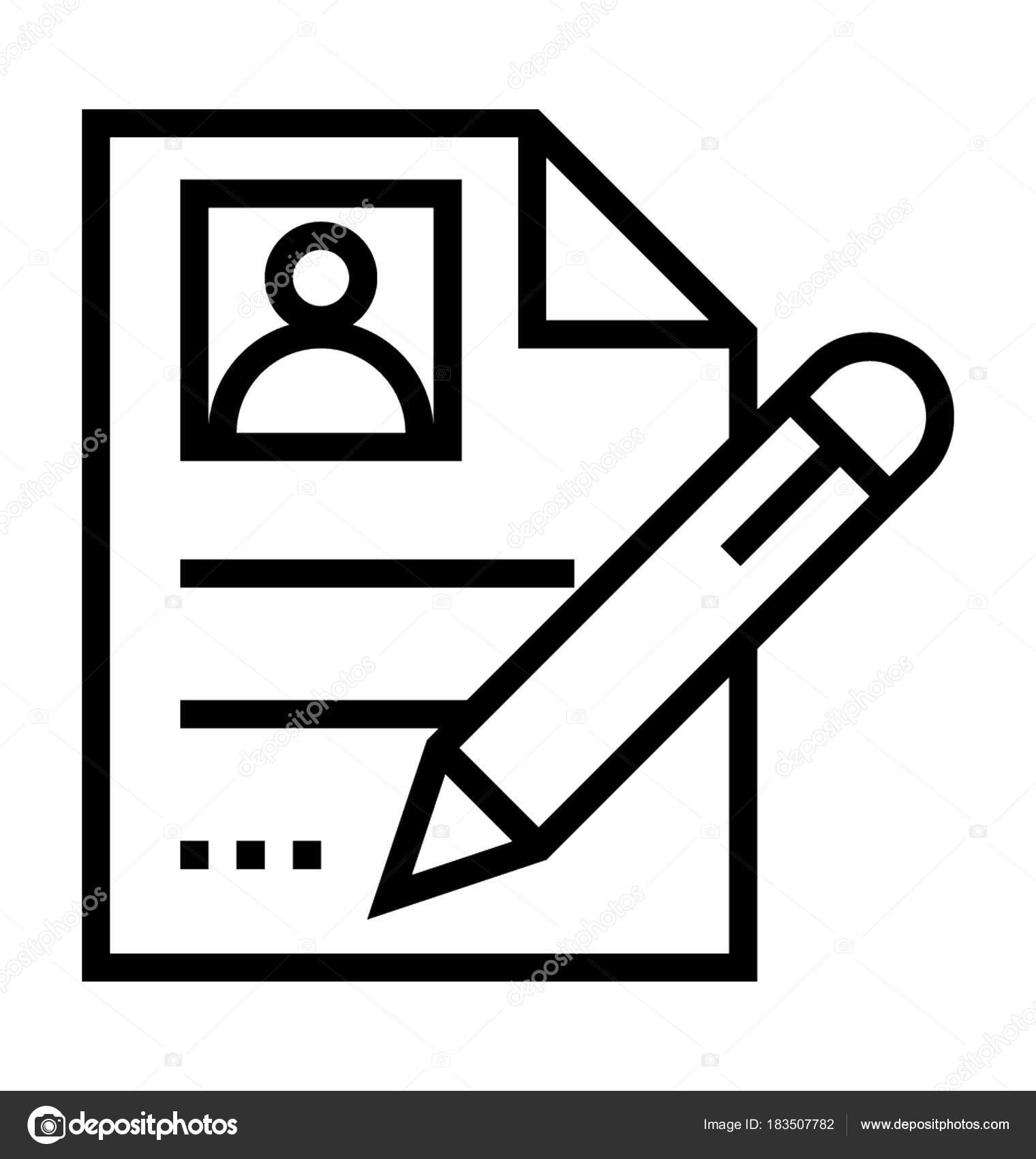 Lebenslauf schreiben Vektor Icon — Stockvektor © prosymbols #183507782